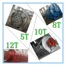 Plant pyrolysis waste tire to oil and wire with negative presser device