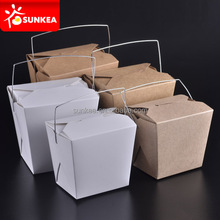 Disposable custom paper Chinese food box pattern