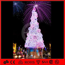 3D led colorful christmas ball tree for holiday/commercial plaza/park decoration