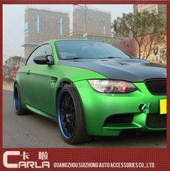 1.52x20m Car Matte Green Chrome Vinyl Wrap
