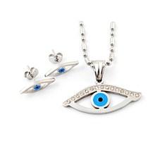 Oriente medio turca del ojo malvado de la joyería, turco de la joyería, azul y plata la joyería del ojo turco