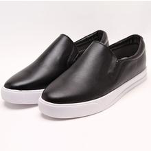 Geniune leather plain women fashion sneaker