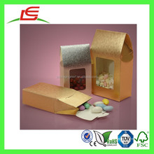 E0158 Shenzhen Silver And Gold Embossed Paper Candy Boxes For Sale, Paper Gourmet Window Bag