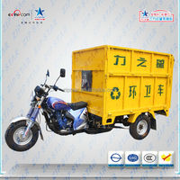 zongshen motor / Garbage Motor Tricycle for Sanitation Using /with Hydraulic Dumper