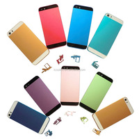 100% Perfect size fit Hot selling colorful metal back cover housing replacement parts for iphone 5
