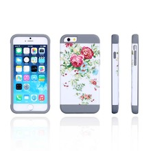 Water transfer 3D color printing wholesale Silicone+PC mobile phone cover