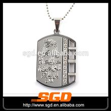 316l açoinoxidável tag de cão personalizado