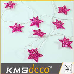 Home decor led christmas star string lights party festival decorative lighting supplier