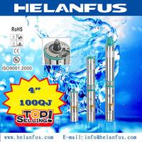 "4""100QJ stainless steel non-clog sewage submersible pump"