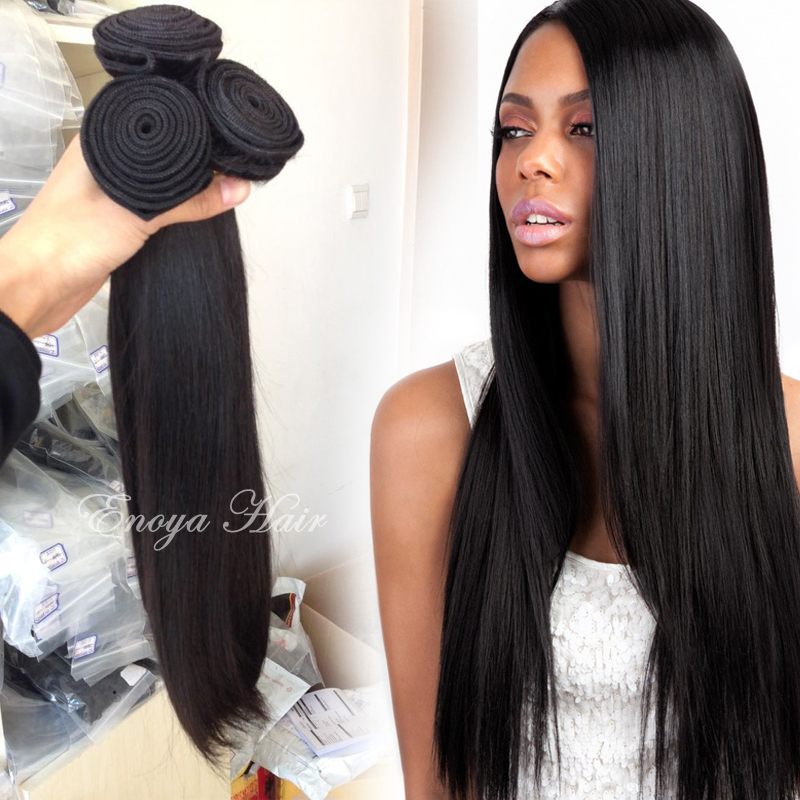 Virgin Brazilian Straight Hair Sew In Hair Extensions