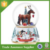 Handmade Resin Horse Snow Globe Cheap Glass