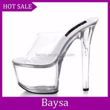 2014 popular women shoes 5cm platform slipper crystal evening shoes high heel shoes for women BC158
