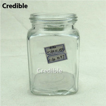 250ML French fresh square glass beverage bottle