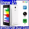 "Original iNew U1 4"" WVGA MTK6572 Android 4.4 Dual Core Unlocked 3G Mobile Phone 2MP CAM 512MB RAM 4GB ROM GPS WCDMA Cell Phone"