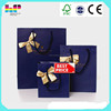 Branded shopping gift bag with twill handle foldable shopping bag