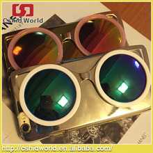 2015 fashion 3D colorful Shiny Sunglasses mirror cellphone case for iphone6 4.7inch