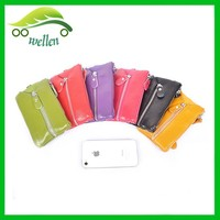 New style various color leather wristlet wallets coin purse