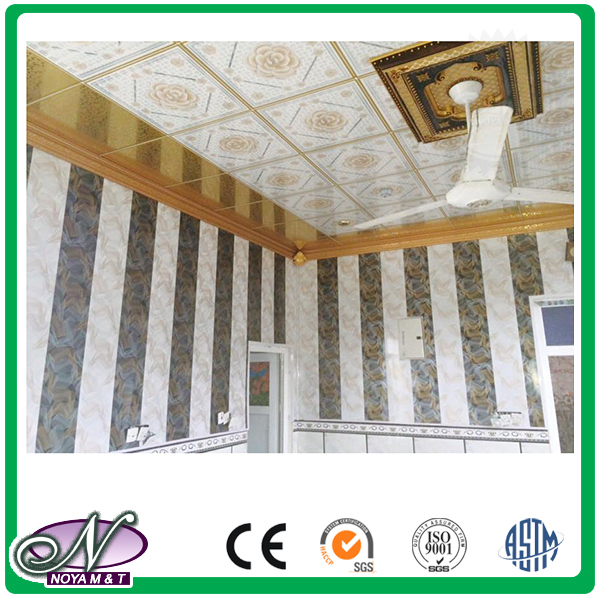 Lightweight beautiful Top quality 3d printing aluminum foil custom size removable ceiling panel