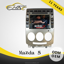 Auto GPS Navigation Car DVD For Mazda 5 MP3 / MP4 Player With Rear-view Camera
