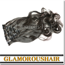 Double weft human hair extensions clip in/ clip in hair extensions for children
