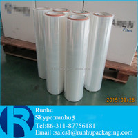 pe plastic stretch film for shrink packaging and wrapping pallet