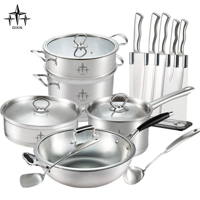Kitchen Accessories Product ~ New product stainless steel cookware set kitchen
