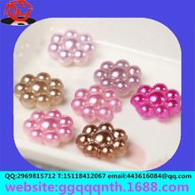 Phone beauty accessories new round pearl sunflower smiling sunflower resin flowers
