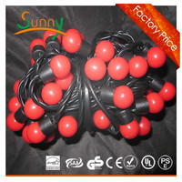 5m 20bulbs C7 LED Ball string light for Christmas decoration ip64