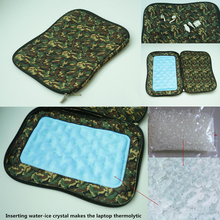 2015 custom camouflage neoprene laptop sleeve with water-ice crystal thermolysis