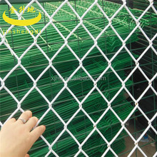 3 lines galvanized barbed wire chain link fence on top for factory
