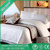 WEISDIN Factory wholesale 100% cotton 3cm striped hotel bedding set bed linen sheet Sets