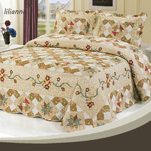 Popular newest cotton handmade applique quilts patterns