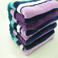 100% Cotton Yarn Dyed Terry Color Stripe Beach Towel