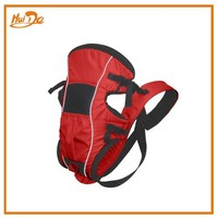red durable baby carrier backpack