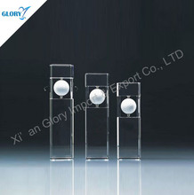 High Quality Clear Golf Pillar K9 Crystal Crafts