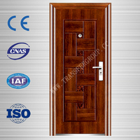 Customize size french steel security exterior door for modern house