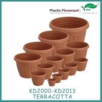 Various Size!!! Plastic flower pot terracotta color