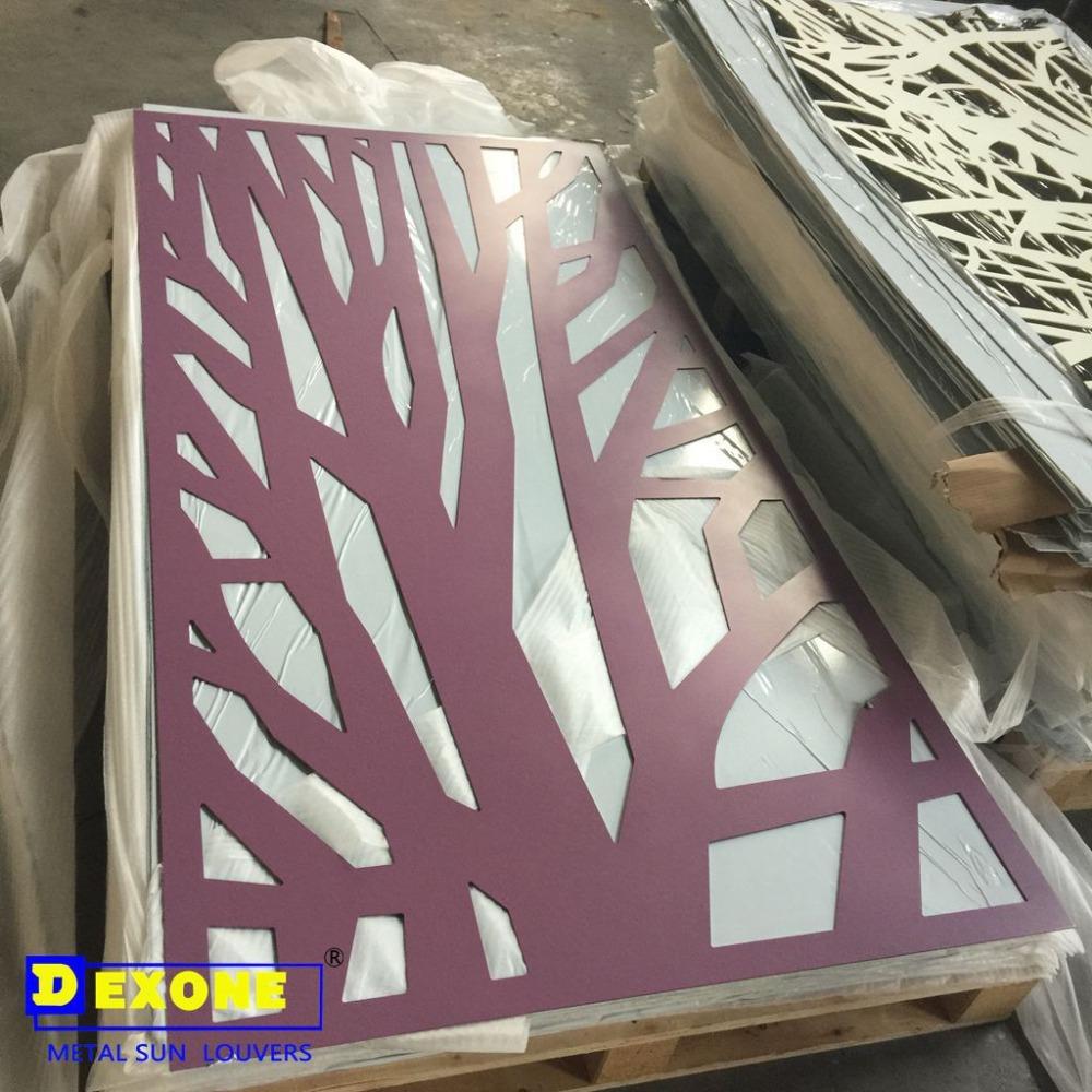 M tal d coratif en aluminium grav t le perfor e panneau pour mur ext rieur d - Plaque metal deco pour mur ...