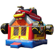 Inflatable airplane castle house