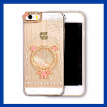 diamond glitter chrome phone case for iphone4 case fancy cell phone accessories for iphone5