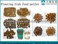 Line seco flotante pescado extrusora / las máquinas de fabricar / producción