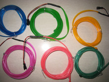 el wire with flexible , brightness and attractive light for decoration 1.3mm,2.3mm,3.2mm,5.0mm