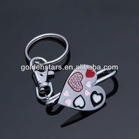 2013 hot selling magic heart shape key finder wiht color heart enamled