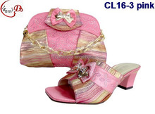 African Popular italian women shoes match bag for party