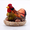 wholesale handmade fake plastic custom laying chicken toys with egg