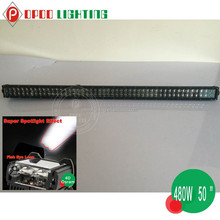 "Promotion!480W High Power 4D Fish Ey 50"" Led Light Bar"