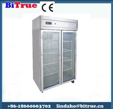 curved glass display deli showcase supermarket freezer