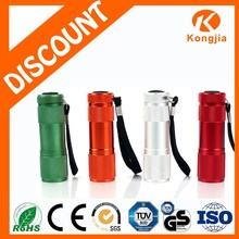 AAA Battery Colorful Promotional 9 LED Flashlight Aluminum Ultra Bright Mini Led Flashlight