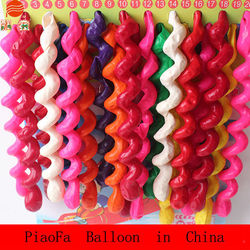 Hot sale spiral balloons screw balloon ring balloon for kids toys