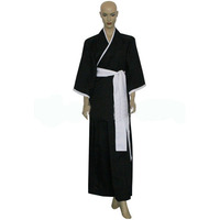 Free Shipping 2014 HOT SALE! Bleach 3rd Division Captain Ichimaru Gin Cosplay Costume Men Halloween Party Costume Anime Cosplay